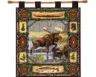 Moose Lodge Wall Hanging (Woven/Tapestry)