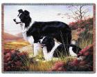 Border Collie Throw Blanket (Woven/Tapestry)
