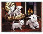 West Highland Terrier Throw Blanket (Woven/Tapestry) Westie