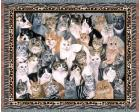 Purrfect Cats Throw Blanket (Woven/Tapestry)