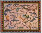 Lounging Lizards Throw Blanket (Woven/Tapestry)