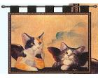 Cherub Cats Wall Hanging (Woven/Tapestry)
