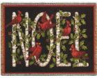 Cardinal Noel (Christmas) Throw Blanket (Woven/Tapestry)