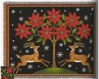 Christmas Deer Throw Blanket (Woven/Tapestry)