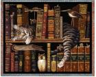 Frederick the Literate Throw Blanket (Woven/Tapestry) Cat