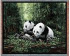 Pandas Throw Blanket (Woven/Tapestry)