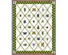 Garden Guests Throw Blanket (Woven/Tapestry) Bee, Butterfly