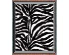 Zebra Pattern Throw Blanket (Woven/Tapestry)