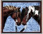 Warriors Truce Throw Blanket (Woven/Tapestry) Horse