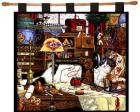 Maggie the Mess Maker Wall Hanging (Woven/Tapestry) Cat