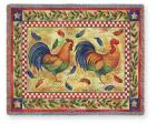 Two Roosters Throw Blanket (Woven/Tapestry)