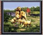 Golden Retriever Throw Blanket (Woven/Tapestry) (Family)