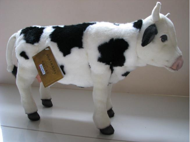 Cow Plush From Hansa 16 Inches Holstein Black And White
